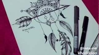 رسم ماندالا شكل بسيط  |  drawing mandala