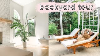 Backyard tour and new home decor! | ELA BOBAK