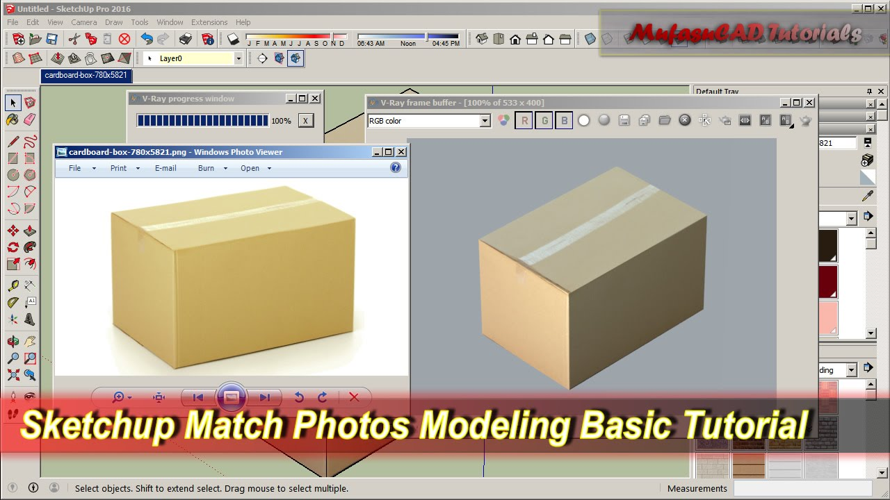 Sketchup training series: match photo part 1 youtube.