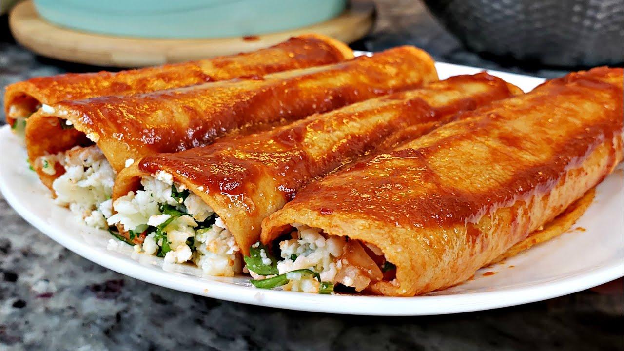 Enchiladas Rojas Recipe Cheese And Onion Enchiladas How To Make Enchiladas Youtube