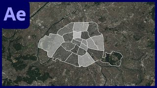 Mapping Paris in Adobe After Effects with GEOlayers 3