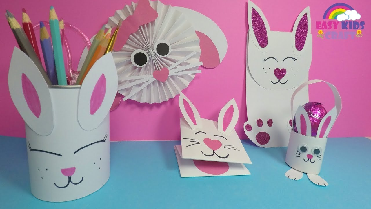 Easy Paper Bunny Craft For Kids Diy Easter Paper Crafts Youtube