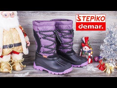 DEMAR Samanta B 1304B - Детские зимние сноубутсы . Видео обзор от STEPIKO