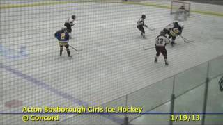 Acton Boxborough Varsity Girls Hockey @ Concord 1/19/13