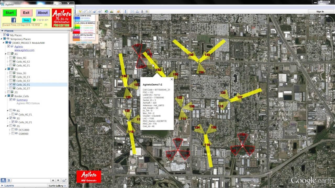 Agileto - NW Optimisation tool | Agileto com | Screenshots