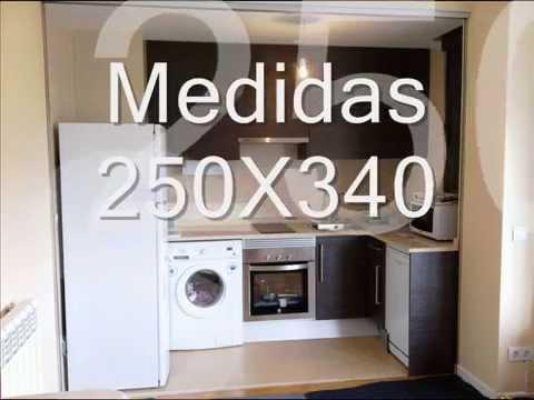 Puerta panel cristal mueble cocina for Mueble cocina americana