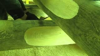 Канадская чаша: черчение.(Срубы из Псковской области: канадская чаша. http://domlafet.ru http://vk.com/domlafet Russia log cabin, Russia log house., 2012-04-23T10:50:07.000Z)