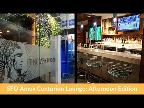 SFO Amex Centurion Lounge: Afternoon Edition