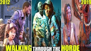 Clementine, Lee & Others Walking Through The Horde Moments In The Walking Dead Series (2012-2019)