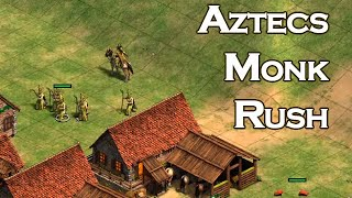 4v4 Arabia | Aztecs Monk Rush!