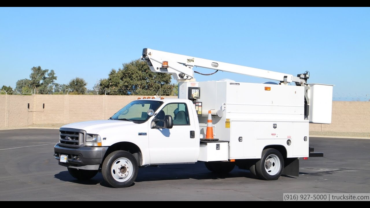 maxresdefault 2002 ford telsta a28d 33' splicer bucket truck youtube telsta a28d wiring diagram at mr168.co