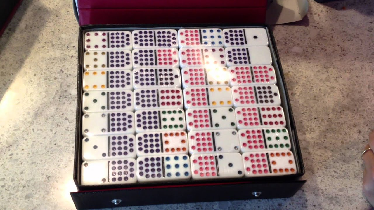 Double 15 Classic Set White Box Dominoes Only Mexican Train Fun
