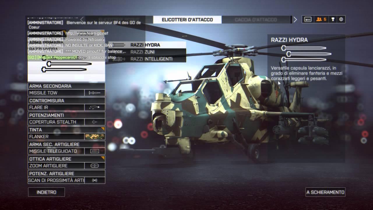 Battlefield 4 Elicottero : Battlefield elicottero d attacco i nostri consigli