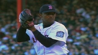 1999 ALCS Gm3: Pedro throws seven shutout, fans 12