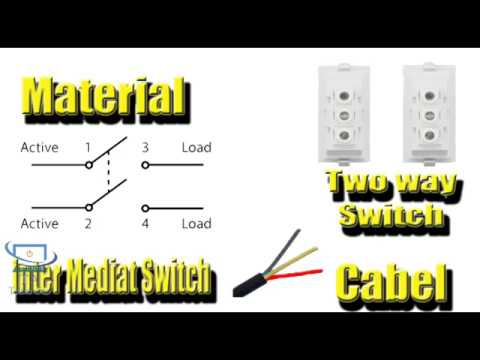 Three switches control one light bulb from 3 places in Hindi / Urdu ...