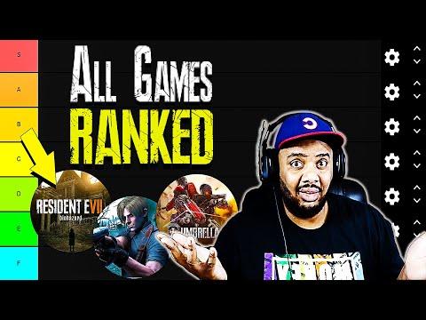 Greatest Resident Evil Tier List!   Ranking All Resident Evil Games