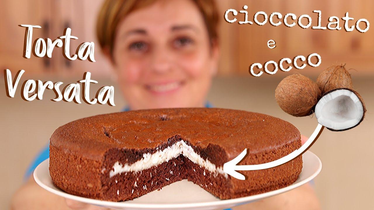 Ricetta Torta Al Cioccolato Di Benedetta.Torta Versata Al Cioccolato E Cocco Ricetta Facile Fatto In Casa Da Benedetta Youtube