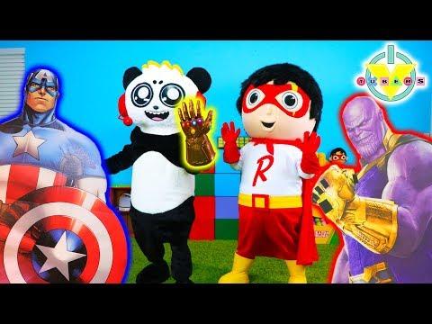 Ryan & Combo Vs. Thanos! We need ENDGAME AVENGERS ! Let's Play Hide N Seek IRL