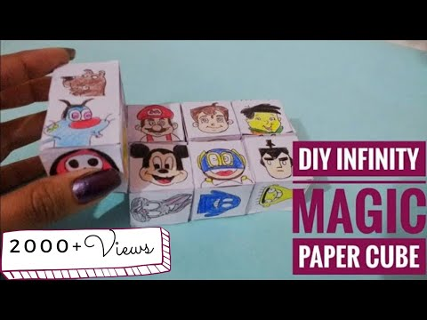 DIY Infinity Magic Cube with Cartoons on it| Paper Cube | Fun Kids Toy