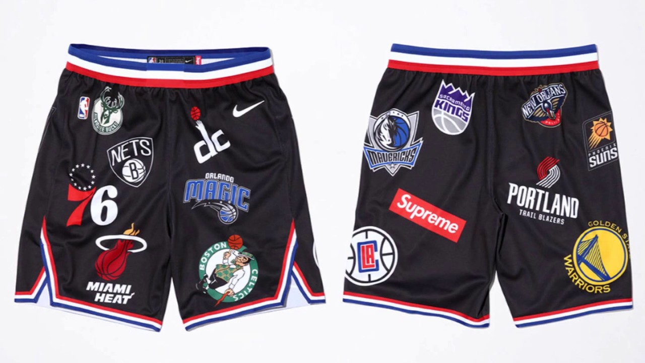 05561aba0ce The Full Supreme x Nike x NBA Collection Releases This Week Covered in  logos from head to toe