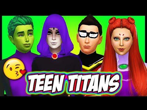 TEEN TITANS HAVE A BABY?? Starfire, Robin, Raven & Beast Boy   Sims 4 Random Genetics Challenge