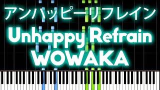 Hatsune Miku - Unhappy refrain 『アンハッピーリフレイン』| MIDI piano.
