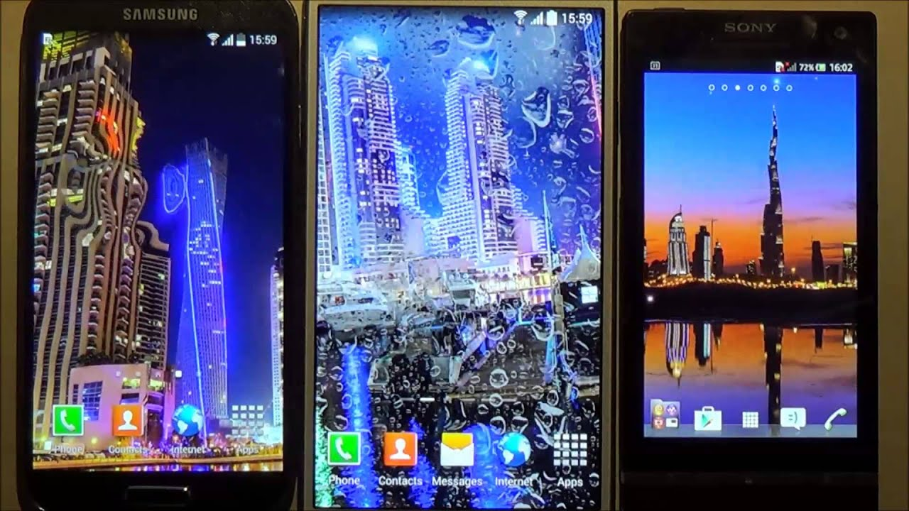 Dubai night live wallpaper for Android phones and tablets