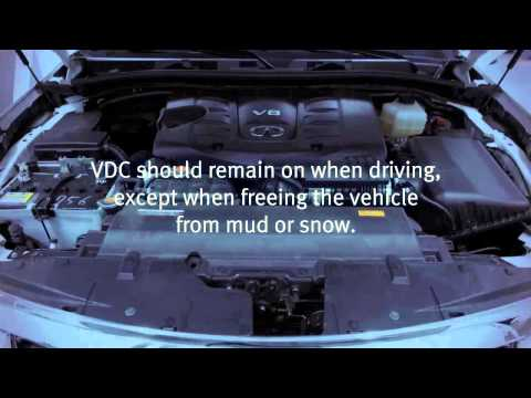 2013 Infiniti QX -  Vehicle Dynamic Control (VDC) and Traction Control System (TCS)