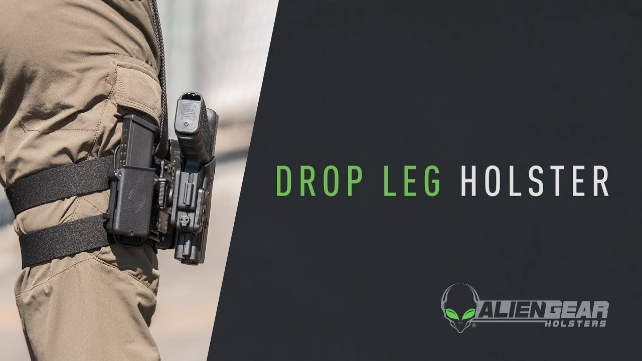 Ordinance 1911 .45 ACPNylon Tactical Drop Leg Thigh Holster with Mag Pouch