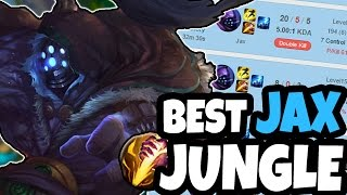 THE BEST JUNGLE JAX IN KOREA - Master Tier One trick - League of Legends