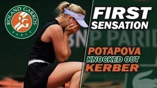 FIRST SENSATION at Roland Garros 2019 | Potapova knocked out Kerber