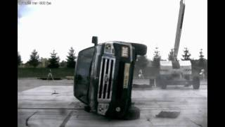 2007 Ford Expedition 30 Mp/h Dynamic Rollover Test (Two Complete Rolls)