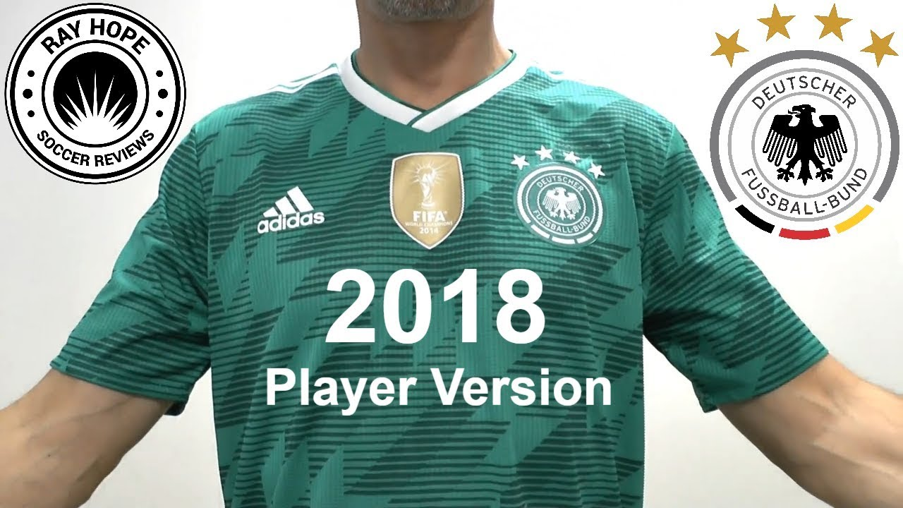 Germany 2018 World Cup away jersey Climachill player version - YouTube 7e8624419