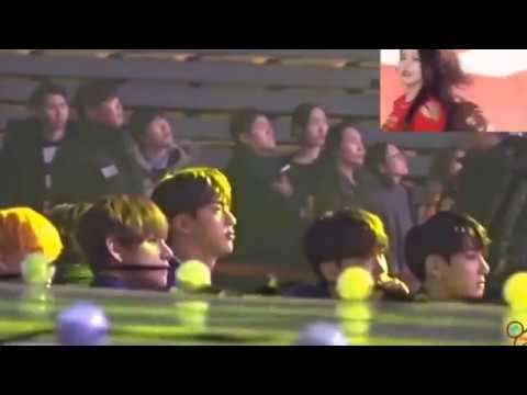 All reactions of BTS about Red Velvet performances
