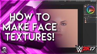 WWE2K17 | How to create custom face textures | Affinity designer tutorial