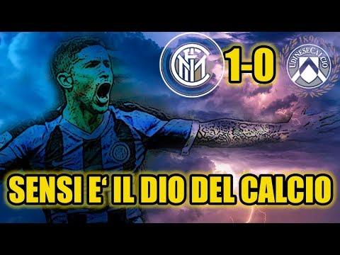SENSI E' IL DIO DEL CALCIO! INTER 1-0 UDINESE - IL NOSTRO HOBBITO CON SUPER POTERI!