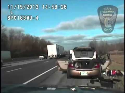 Ohio State Highway Patrol dashcam - Norman Gurley arrest