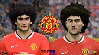 PES 2015 vs FIFA 15 Manchester United Faces comparison PC version !