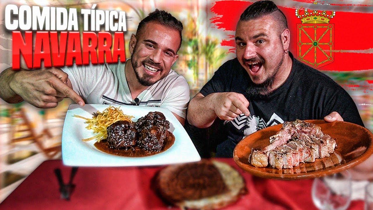 Probando COMIDA TÍPICA de NAVARRA con CENANDO con PABLO | CHULETÓN DE CABALLO