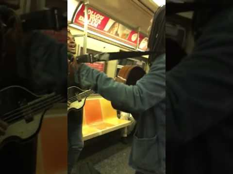 The Black Beatles - Eight days a week - NYC Subway