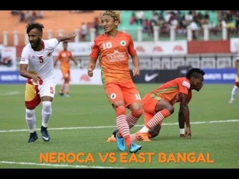 NEROCA VS EAST BENGAL    east bengal score a penalty goal    i-league 2018