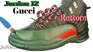 Custom Jordan 12 - Gucci Jordan 12's - Custom Jordans - Custom Shoes