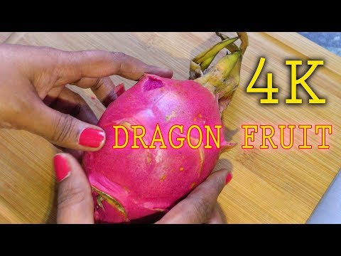 How to Cut Prepare & Eat Dragon Fruit | 4K