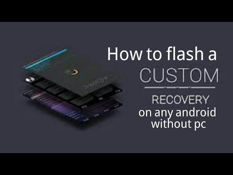 How to flash custom recovery in any phone without pc