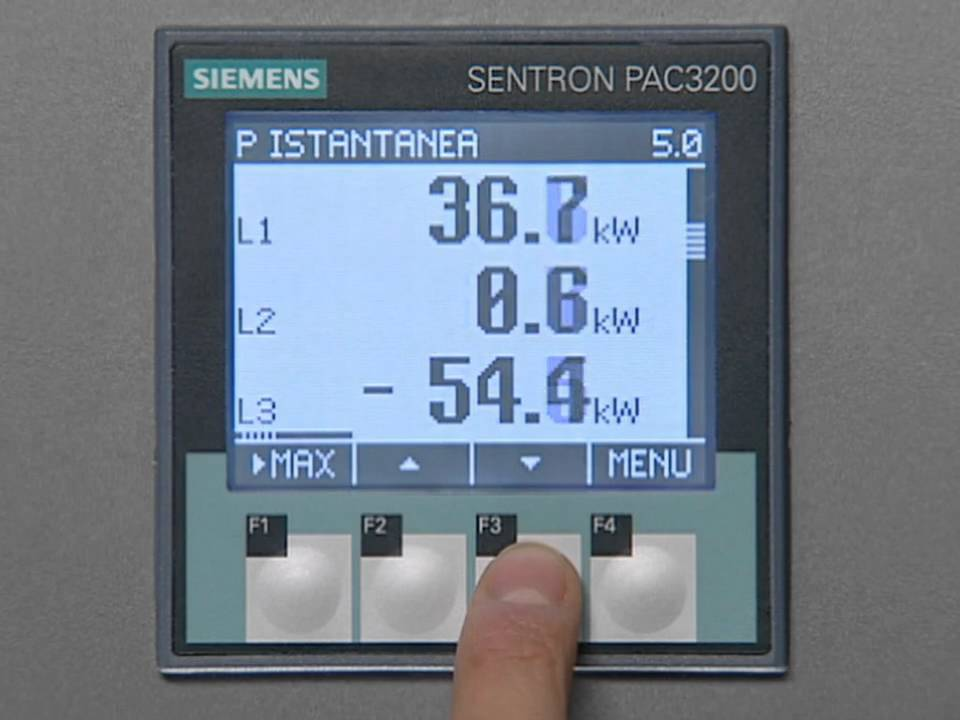 Siemens Power Management Sentron Pac 3200 Youtube