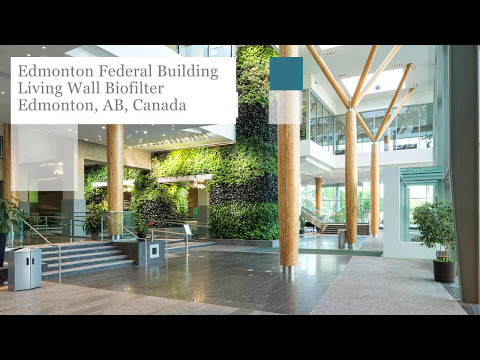 Edmonton Federal Building Living Wall Biofilter - Project of the Week 5/15/17