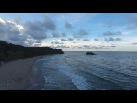 Playa Cocles Costa Rica drone footage