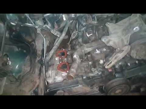 Субару аутбек 2.5 л. снятие/установка двигателя
