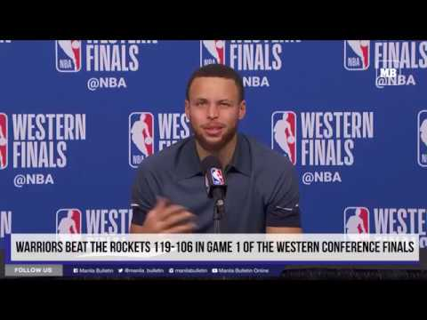 Warriors beat the Rockets 119-106 in Game 1 of the Western Conference Finals