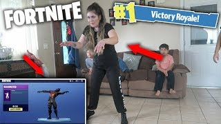 NEW FORTNITE DANCES IN REAL LIFE! (WITH FAMILY)